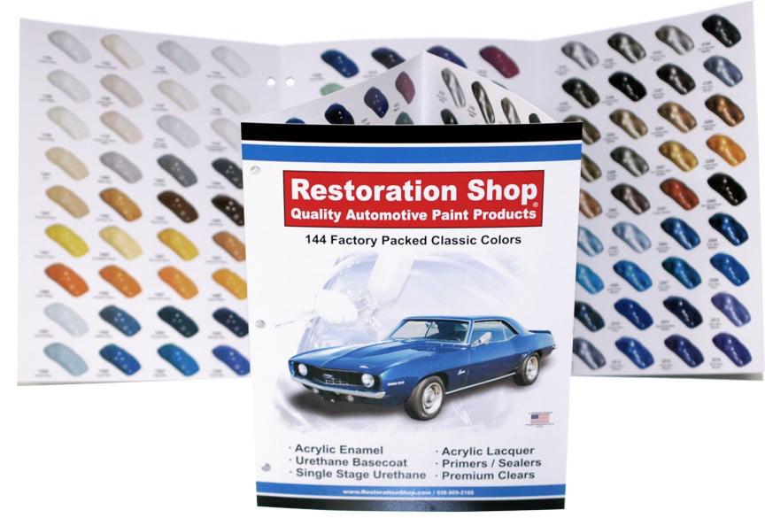 144 Restoration Shop COLOR CHART-AUTO CAR PAINT CHIPS by Restoration Shop