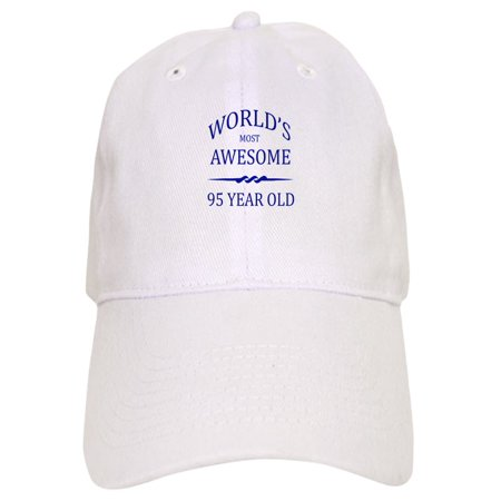 CafePress - World's Most Awesome 95 Year Old - Printed Adjustable Baseball Cap