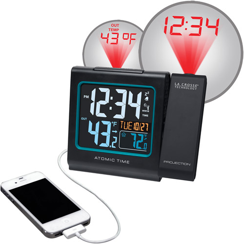 "La Crosse Technology Projection 5"" Color LCD Alarm Clock with Temperature, Black by Generic"