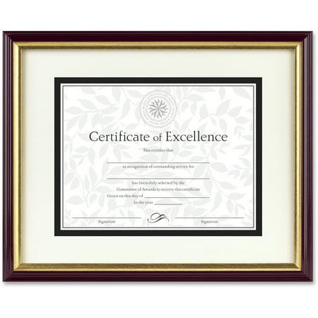 DAX Document/Certificate Frame w/Mat, Plastic, 11 x 14, 8 1/2 x 11 ...