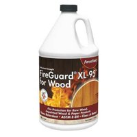 FIREGUARD C FG-XL95 G01E Flame Retardant Coating,Wood,1 gal.