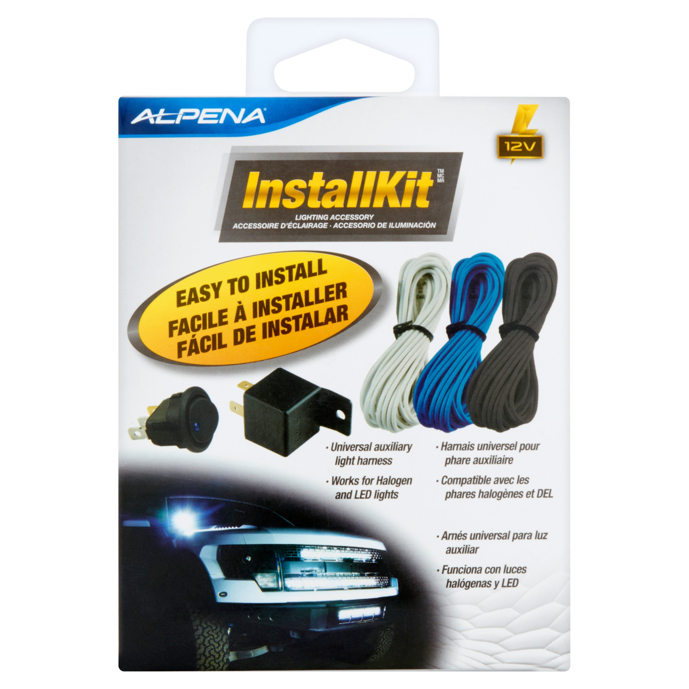 alpena universal automortive install kit on off rocker switch 20amp rh walmart com LED Connection LED Fluorescent Replacement Wiring Diagram