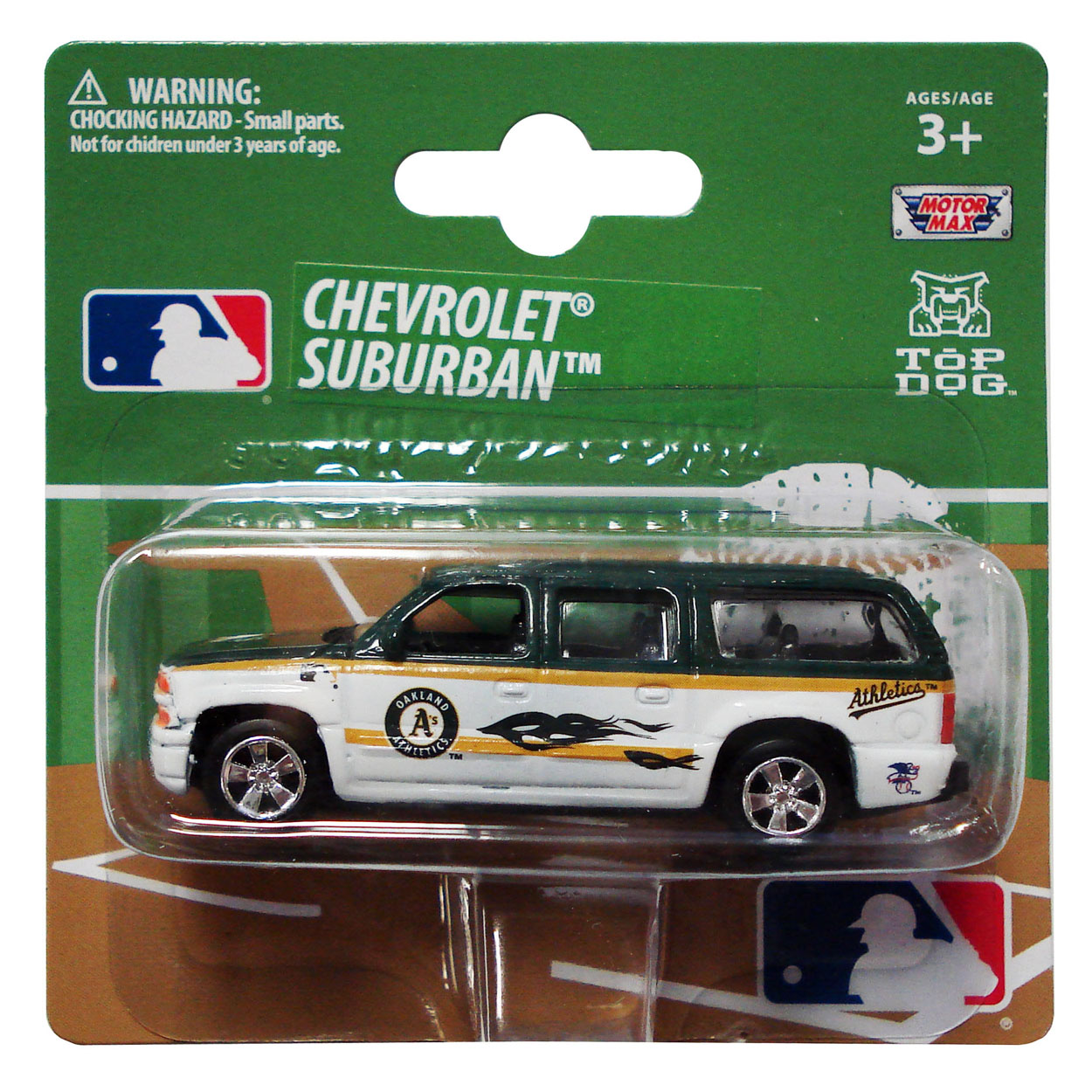 Top Dog 1:64 Chevy Suburban - MLB Oakland Athletic