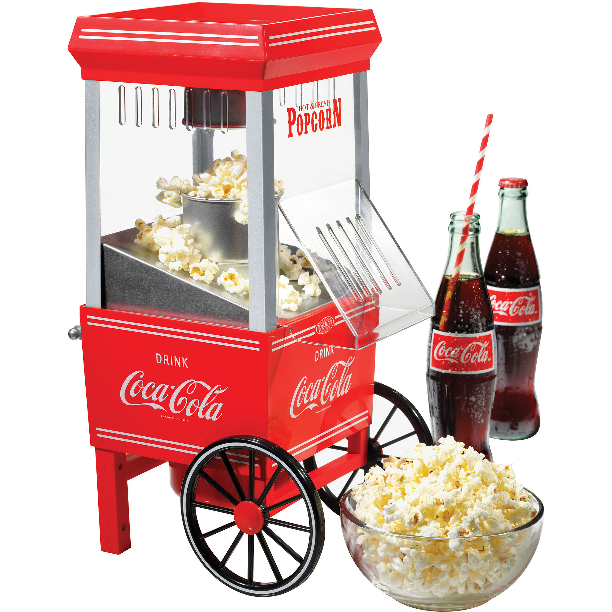 Nostalgia Electrics Coca-Cola Series Hot Air Popcorn Maker, OFP501COKE