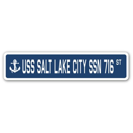USS SALT LAKE CITY SSN 716 Street Sign us navy ship veteran sailor gift](Salt Lake City Halloween Party)