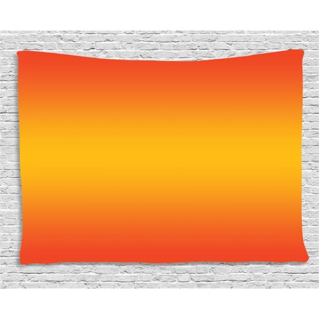 Summer Themed Decorations (Ombre Tapestry, Tropical Sunset Inspired Summer Themed Design Artistic Modern Room Decorations, Wall Hanging for Bedroom Living Room Dorm Decor, 60W X 40L Inches, Orange Yellow, by)