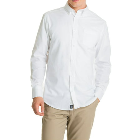 Lee Young Men's Long Sleeve Oxford Shirt Classic Cotton Oxford Shirt