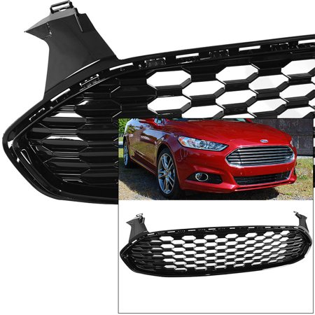 - Front Grille for Ford Fusion Mondeo 2013-2016 Mustang Style 1 Black Glossy Honeycomb