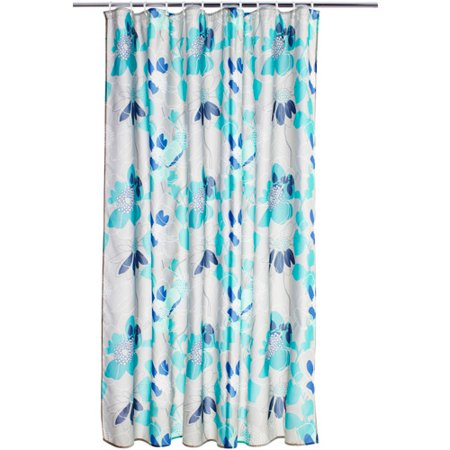 Get It Together Teal Grey Shower Curtain