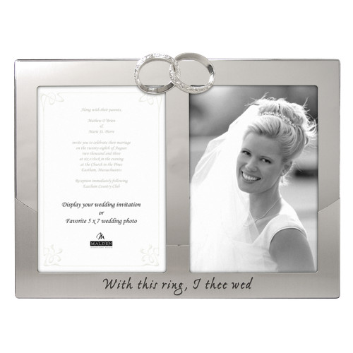 Malden Wedding Rings Picture Frame