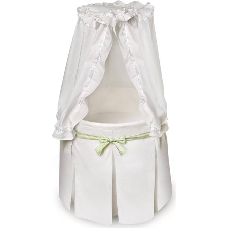 Click here for Badger Basket Empress Round Baby Bassinet  White prices