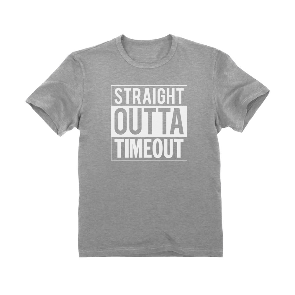 Straight Outta Timeout Funny Toddler Kid/'s Boy/'s T-Shirt
