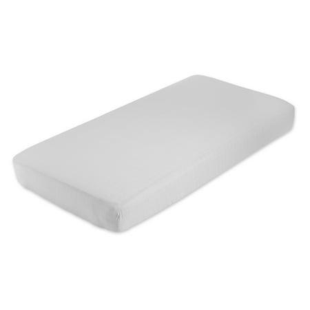 Image of aden + anais crib sheet, grey dawn