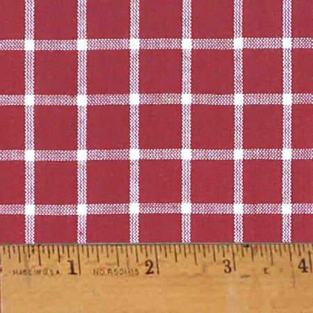 Liberty Red 6 Plaid Christmas Homespun Cotton Fabric Sold by the Yard - JCS Fabric