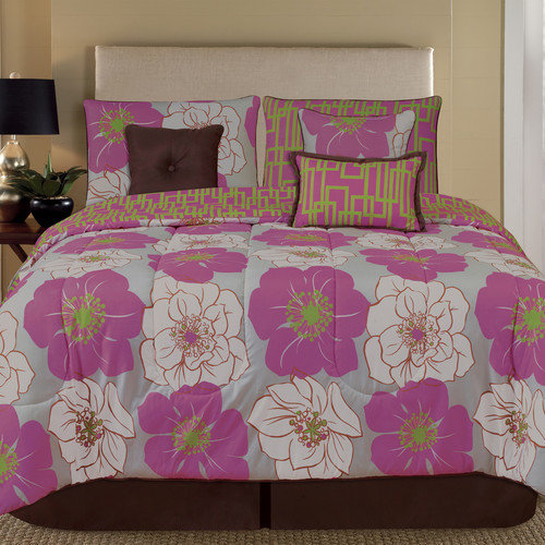 Home Fashions International Palmetto Print Works Retro 7 Piece Comforter Set