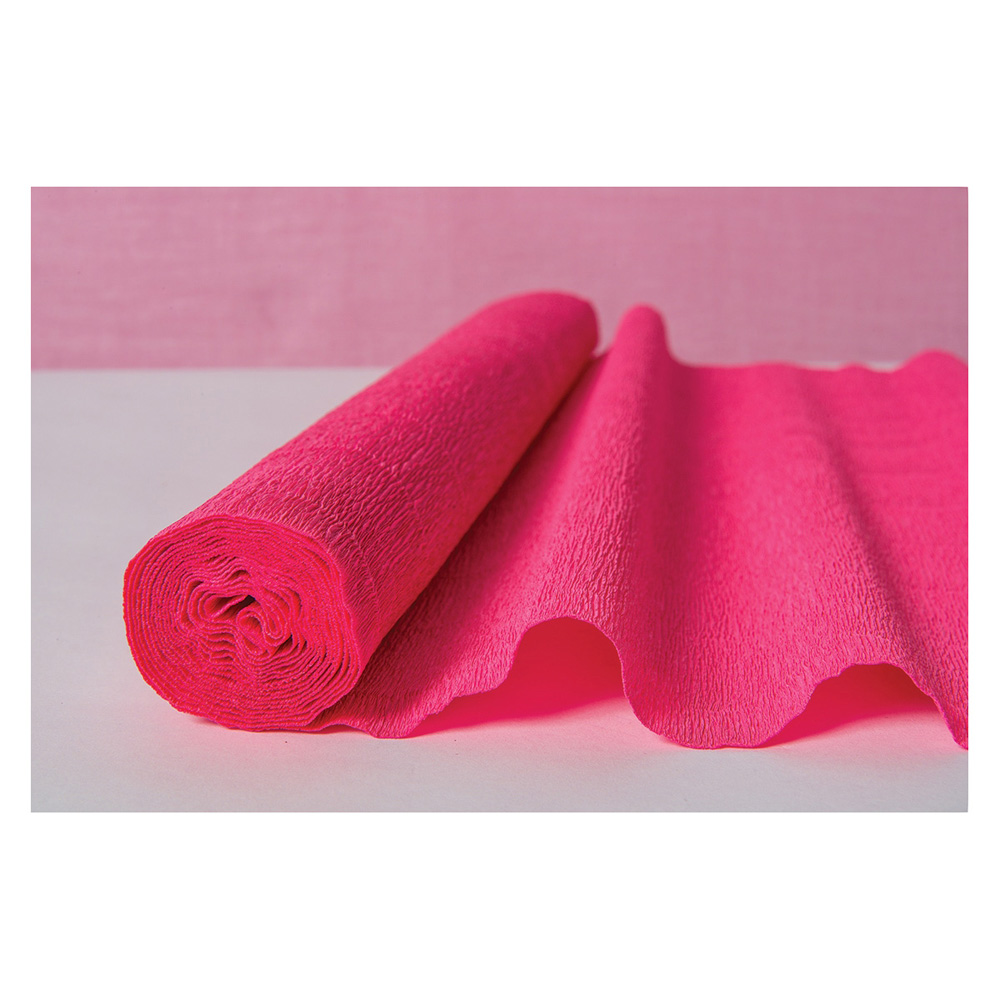 Luna Bazaar Premium Heavy Italian Crepe Paper Roll (20 Inches x 8 Feet, Coral Pink) - For DIY Projects, Table Runners, and Gift Wrapping