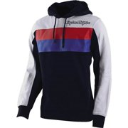 Navy Blue/White/Red Sz L Troy Lee Designs Block Signature Hoody