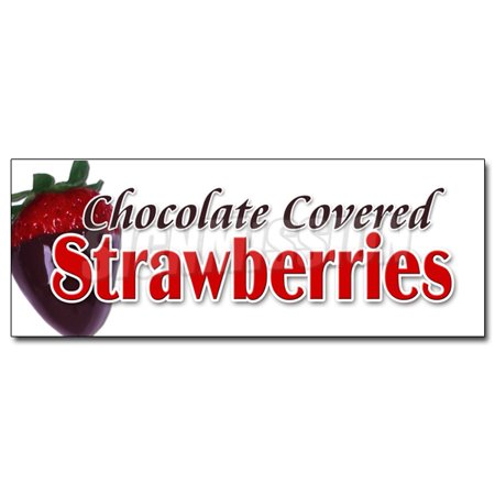 36  Chocolate Covered Strawberries Decal Sticker Candy Dipped Chocolatier Sweet