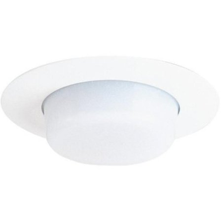 Drop Opal Lens - Juno Lighting 11-WH 4-Inch Drop Opal Trim, White with White Lens