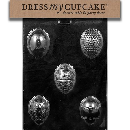 Dress My Cupcake DMCE468 Chocolate Candy Mold, Sports Themed Eggs, Easter](Cupcake Wars Themes)