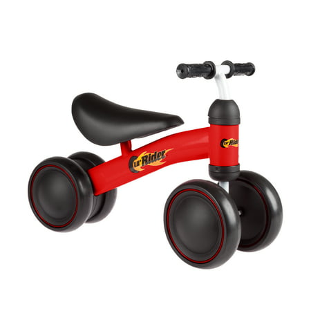 Ride On Mini Trike with Easy Grip Handles, Enclosed Wheels and No Pedals for Learning to Walk for Baby, Toddlers, Boys and Girls by LilÂ' Rider (Red)
