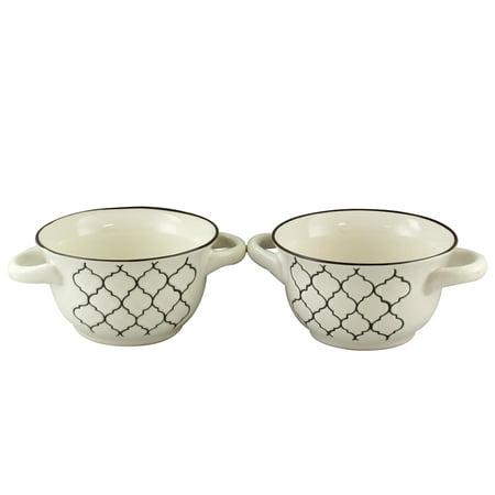 Crock-Pot Mathiston 2-Piece 27 oz. Soup Bowl in White