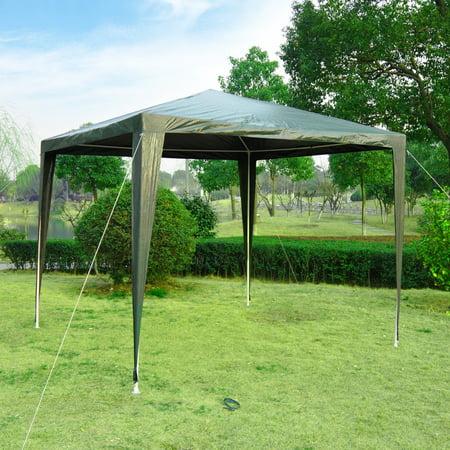 9x9ft Party Tent Outdoor Gazebo Canopy Portable Folding Sunshade Dark Green - image 5 de 7