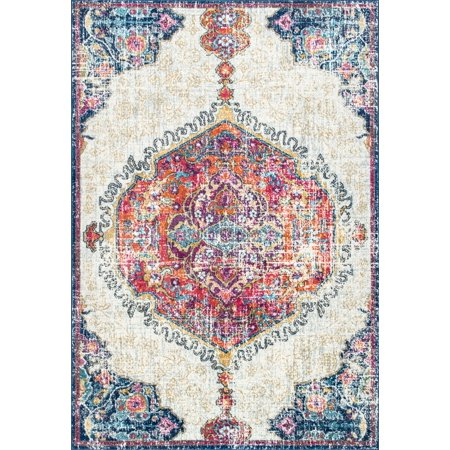 6' X 9' Runner - nuLOOM Vintage Medallion Maranda Area Rug or Runner