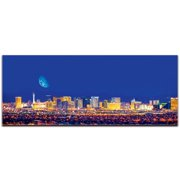Metal Art Studio Las Vegas City Skyline on Metal or Acrylic by Modern Crowd Urban Cityscape Enhanced Photo Print