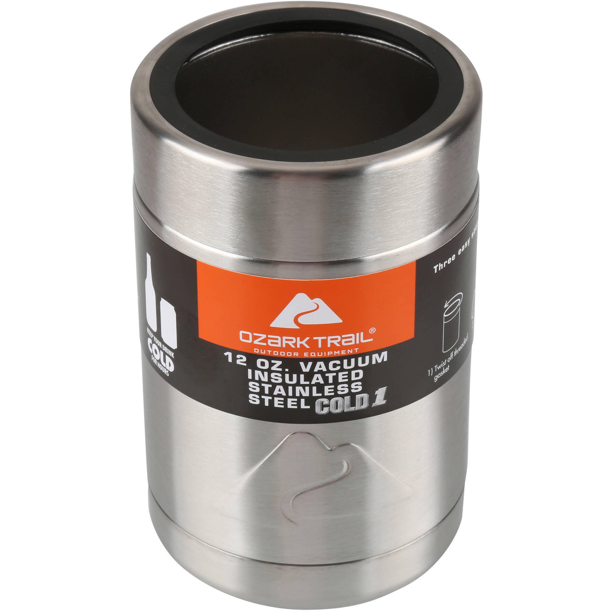 189191cde16 Ozark Trail 12-Ounce Vacuum Insulated Can Cooler with Metal Gasket Genuine