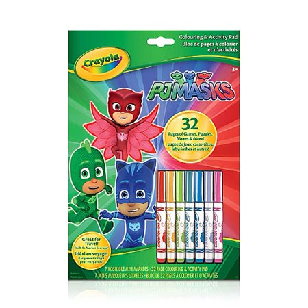 Halloween Printable Coloring Masks (Crayola Colouring & Activity Book PJ)