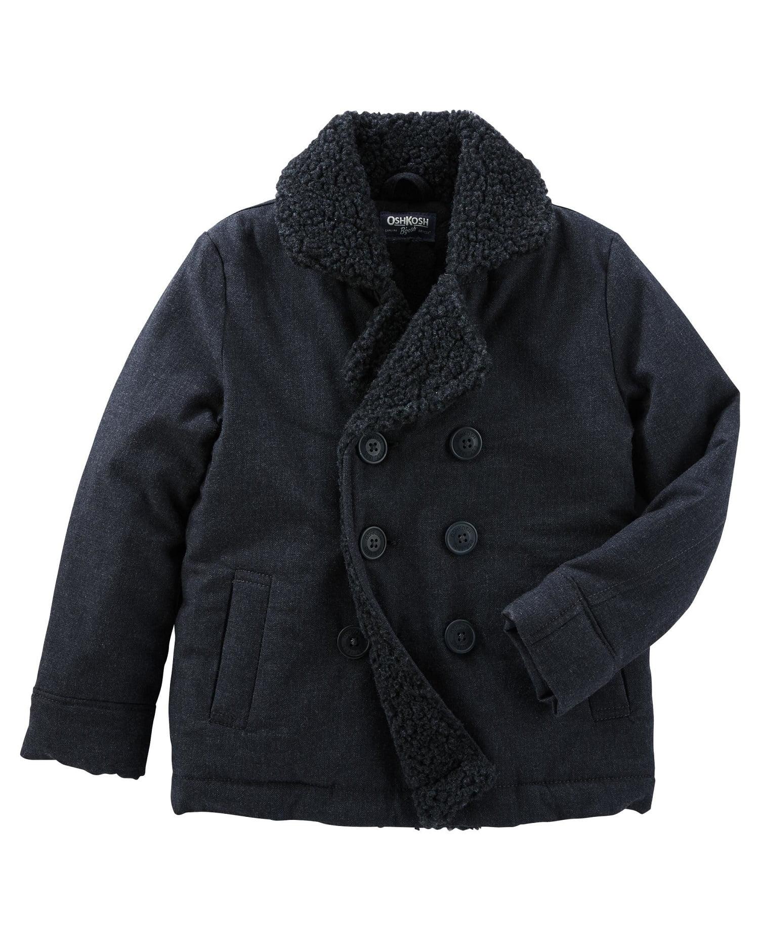 OshKosh B'gosh Little Boys' Double-Breasted Coat, 4-Toddler