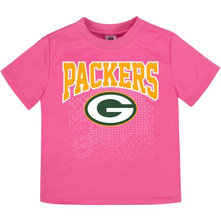 Toddler Gerber Pink Green Bay Packers T-Shirt - Packers Uniforms