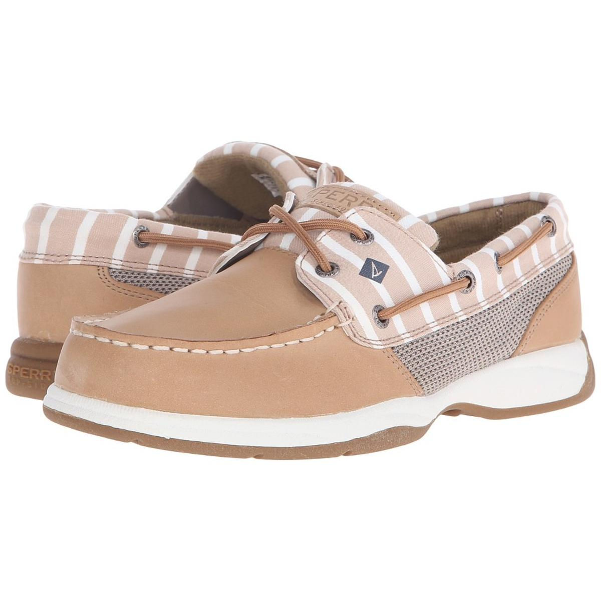 Sperry Top-Sider Intrepid Stripe- Women's Womens Linen Boat Shoes