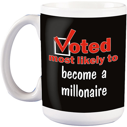 """Personalized """"Voted Most Likely To"""" Mug, 15 oz"""