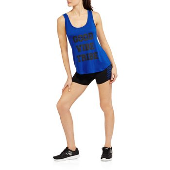 Womens Fitspiration Tank and Contrast Wide Mesh Bike Short Set