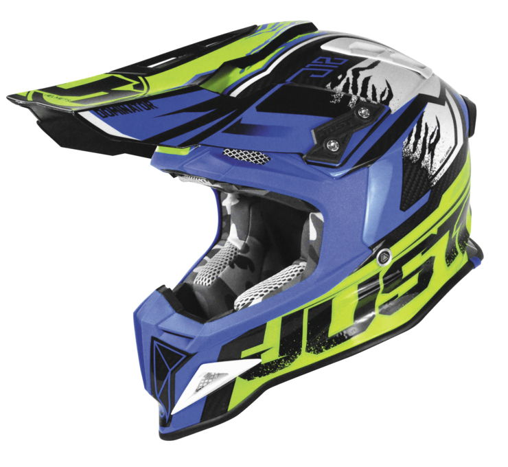 Just 1 J12 Dominator MX Offroad Helmet Yellow/Blue
