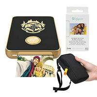 Lifeprint 2x3 Wizarding Magic Photo and Video Printer (Black) Travel Kit