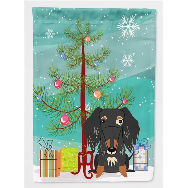Carolines Treasures BB4253CHF Merry Christmas Tree Wire Haired ...