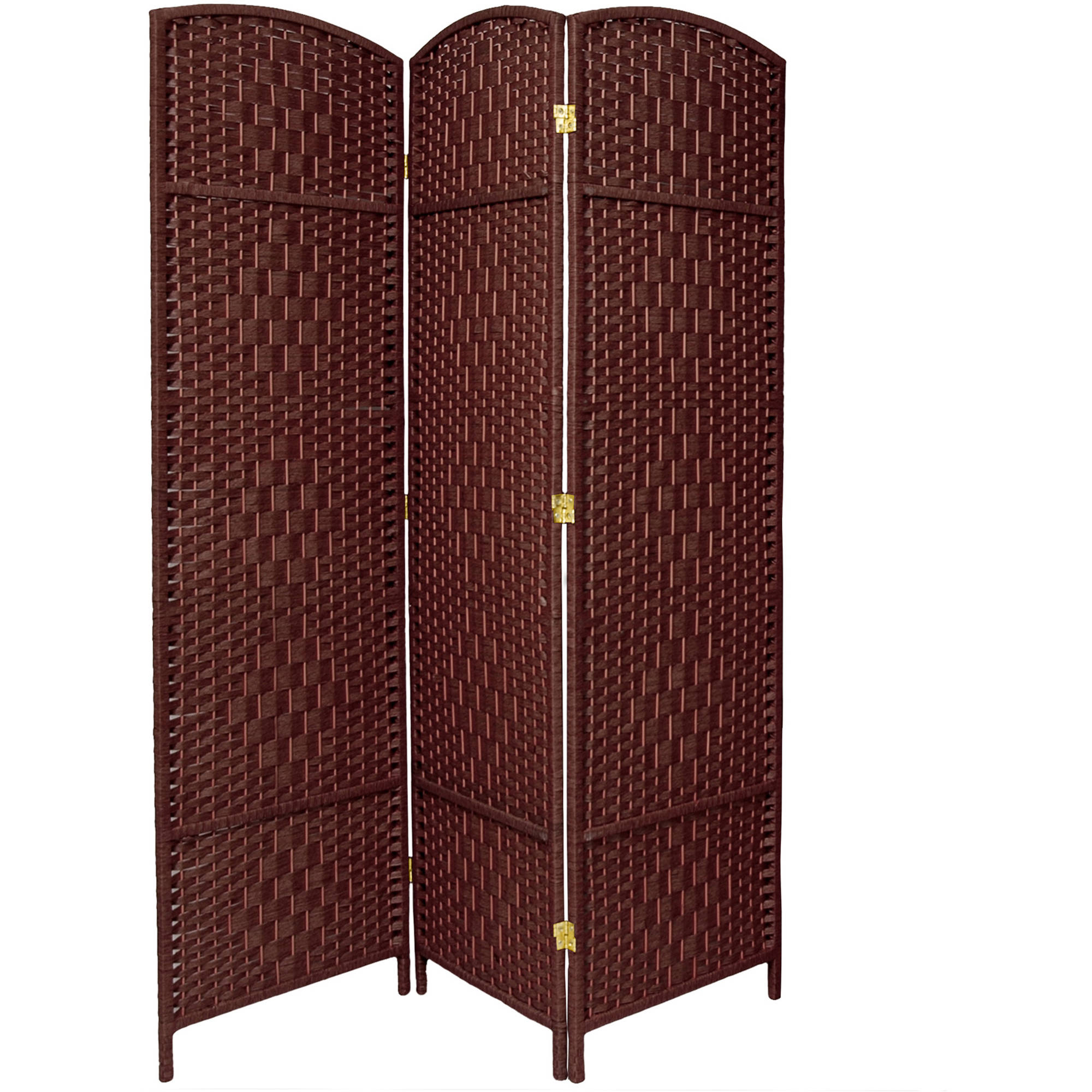 6' Tall Diamond Weave Fiber Room Divider
