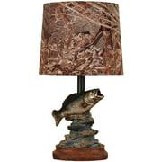 Mossy Oak Fish Accent Lamp, Dark Woodtone