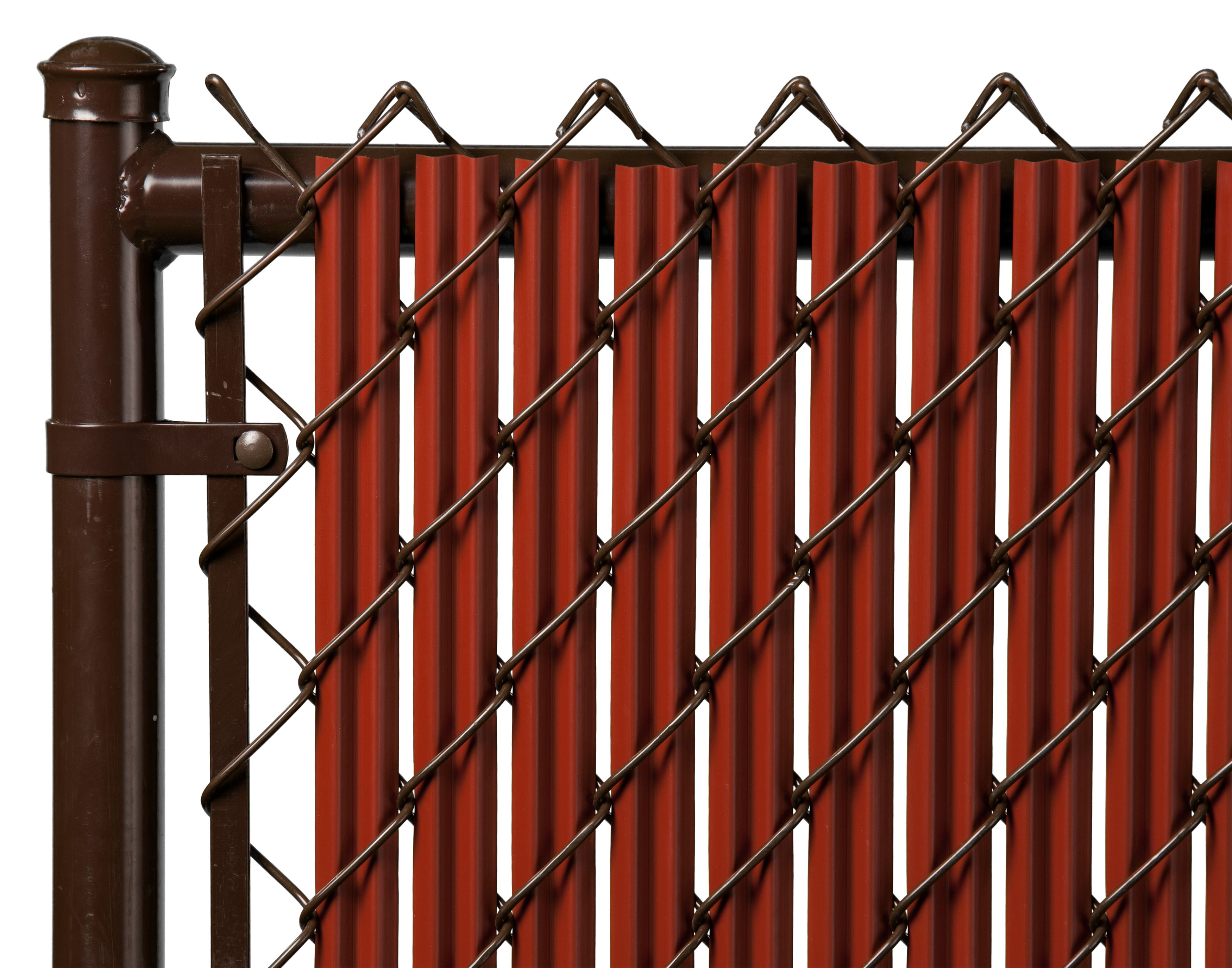 Redwood 6ft Ridged Slat for Chain Link Fence by Supplier Generic