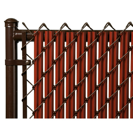 Redwood 6ft Ridged Slat for Chain Link Fence