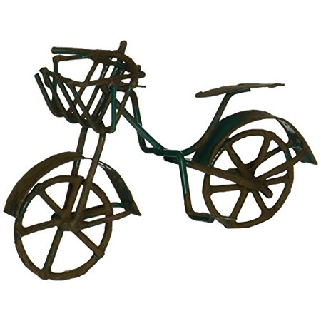 G & F 10022GR MiniGarden Fairy Garden Miniature Green Mini Bicycle Outdoor (Foliage Fairy Green)