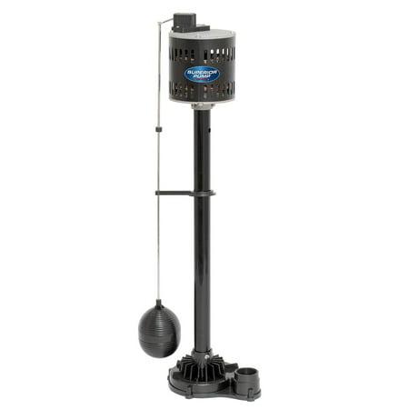 Superior Pump 92533 1/2 Horsepower Thermoplastic Steel Pedestal Sump Pump, Black 1/2 Hp Pedestal Sump Pump