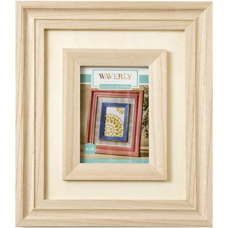 waverly inspirations decorative wood picture frame 11 x 13 opening 4 x 6. Black Bedroom Furniture Sets. Home Design Ideas
