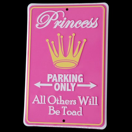 Princess Parking Only All Others TOAD Tin Sign Funny Garage/Shop/Home Wall
