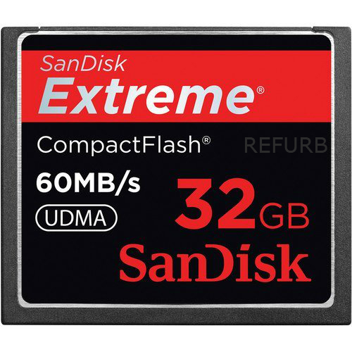 SanDisk Extreme 32GB CF Card 60MB/s SDCFX-032G-A61 (Certified Refurbished)