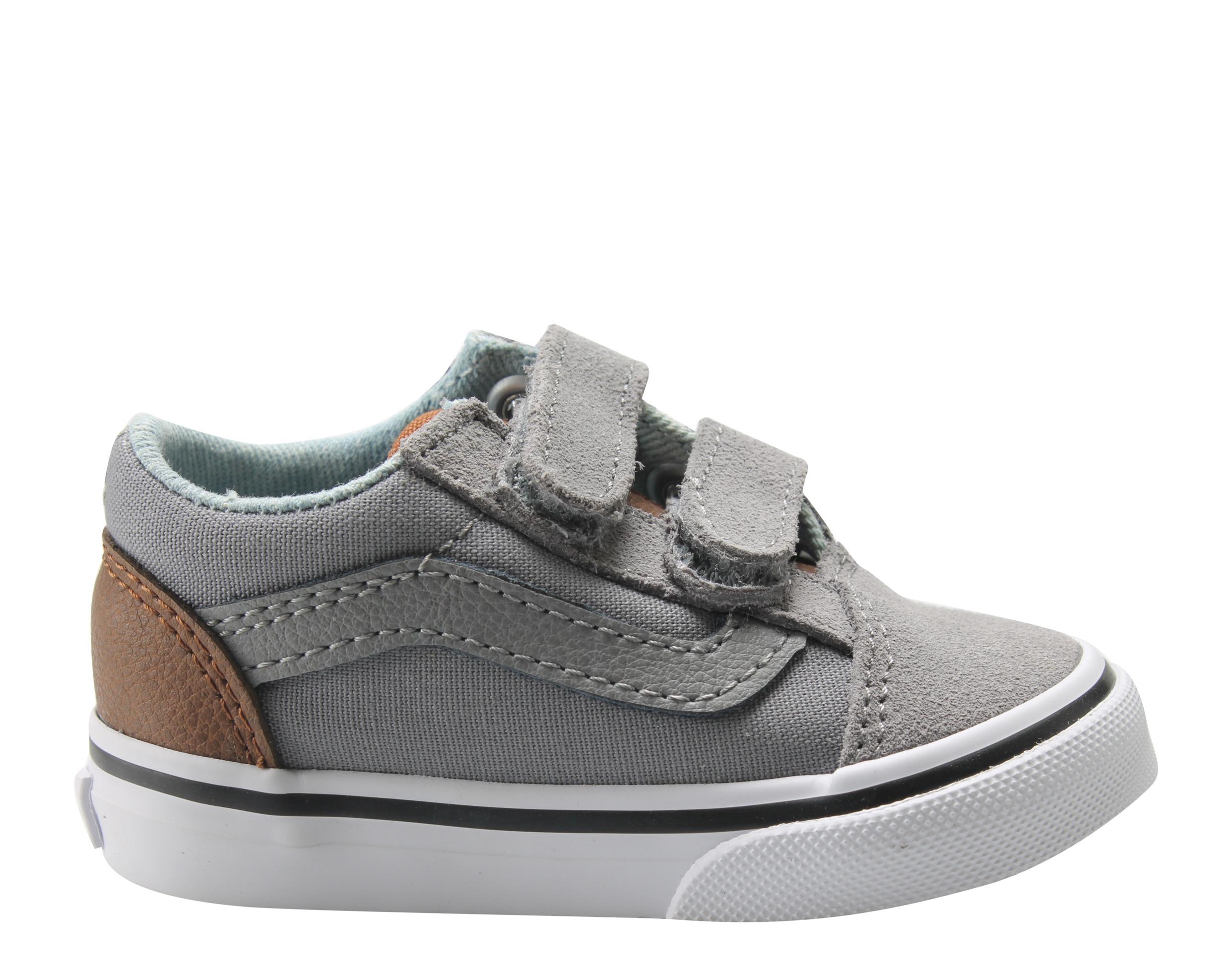 1ec5fb7a0a Vans - Vans Old Skool V Frost Gray Acid Denim Low Toddler Kids Sneakers  VN0A344KQ70 - Walmart.com