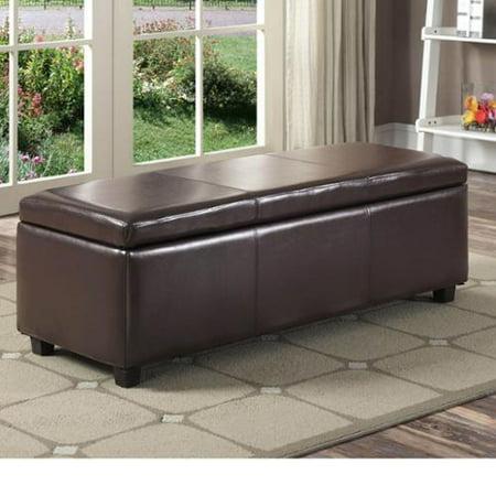 Tremendous Wyndenhall Franklin Large Rectangular Storage Ottoman Bench Ncnpc Chair Design For Home Ncnpcorg